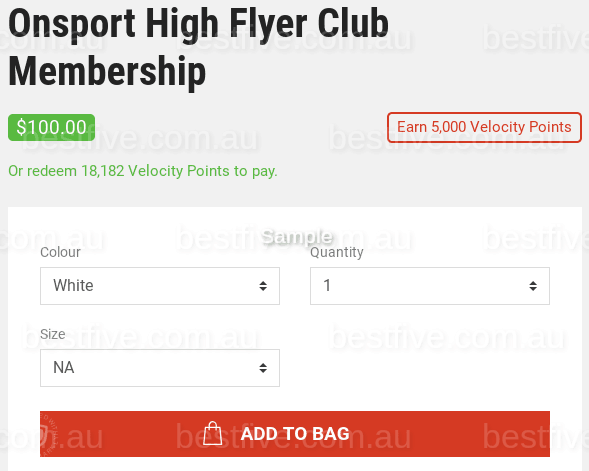 Earn Velocity Points Without Flying