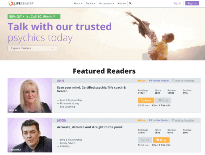 lifereader review australia